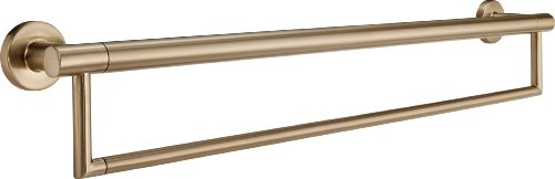 - Delta Faucet 41519-CZ Contemporary Towel Bar/Assist Bar, 24-Inch, Champagne Bronze