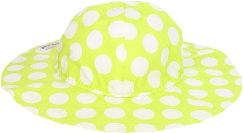 Flap Happy Little Girls' UPF/UV50+ Floppy Hat, Kiwi Punch, Large