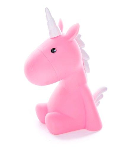 Dhink Unicorn Nightlight LED Multicolor Light Childrens Room Kids- Pink White Manes