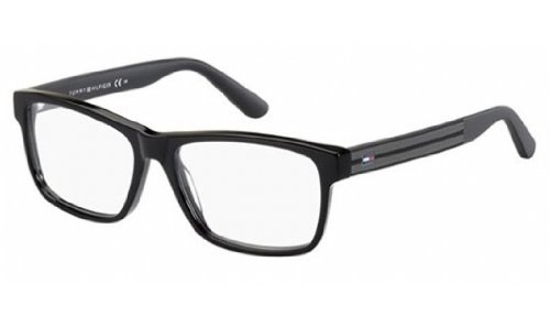 Tommy Hilfiger 1237 Eyeglasses-0KUN Black -54mm