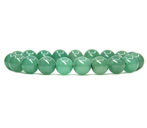 - Natural Green Aventurine Gemstones Healing Power Crystal Elastic Stretch Beaded Bracelet 7