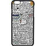 Marianas Trench Lyrics 2 iPhone 6 Case / iPhone 6s Case (Black Plastic)