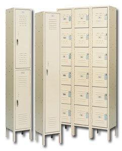 Republic Storage Systems, 3 Wide Units, Assembled Double Tier, H753793-A, Sizewxdxh: 15 X 18 X 36