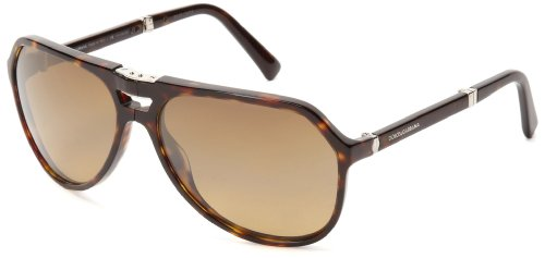 D&G Dolce & Gabbana 0DG4196 502/M261 Polarized Round Sunglasses,Havana,61 mm