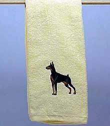 Hand Towel: Doberman Pinscher