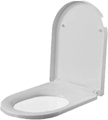 CXMMTGトイレのふた 浴室用便座Uは、尿素 - ホルムアルデヒド樹脂バッファーパッドクイックリリースではトイレの蓋形状の超耐性トップマウントトイレカバー、ホワイト-46 * 36センチメートル CXMWY-4W0Y2