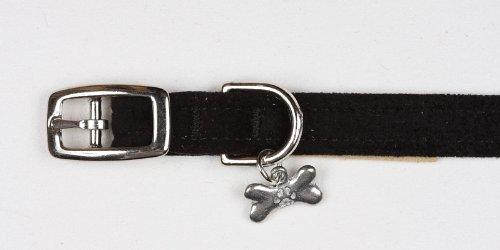Ultrasuede Dog Collar By Susan Lanci Designs (Black, SM (9 to 10.5 inch))