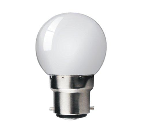 Kosnic - Bombilla led de bajo consumo (con cubierta de plástico, 1 W, 4000 K, 8 led, 50.000 horas), color blanco: Amazon.es: Iluminación