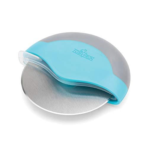 Fox Run 10691 Swing Wheel Pizza Cutter, 4.75-Inch Diameter, Blue (Cutter Blue Pizza)