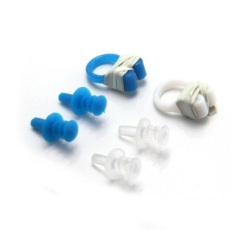 TOOGOO(R) 2 x Swimming Swim Diving Soft Nose Clip Ear Plug Earplug Set