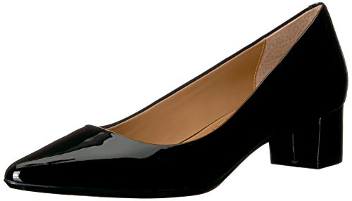 Calvin Klein Women's Genoveva Dress Pump, Black Patent, 6.5 M US -