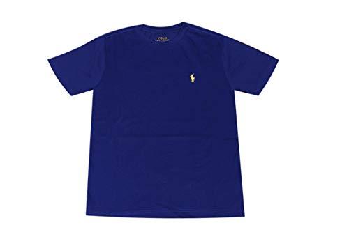 Polo Ralph Lauren Boys Crew Neck Pony Logo T-Shirt (Small, Blue (Yellow Pony))