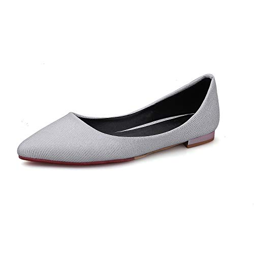 Round Flat Head Mouth Women's Shoes Shallow Casual White z5q6xwp