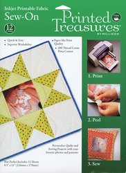 Printed Treasures Inkjet - Dritz - Printed Treasures Sew-On Ink Jet Fabric Sheets-Whi