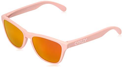 Oakley Boys' Frogskins Xs Non-Polarized Iridium Round Sunglasses, Matte Pink, 53.0 mm ()