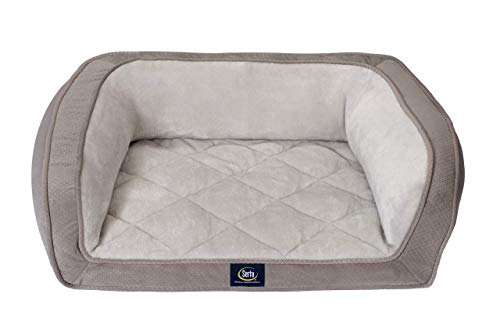 Serta Ortho Quilted Couch, Grey, Small