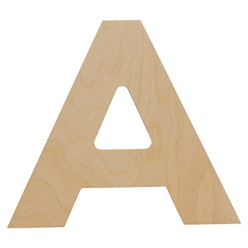 Wooden Letters - A - Unfinished 8