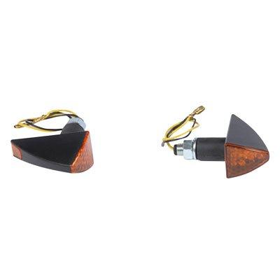 - DMP LED Turn Signal - Fuse (Stalk Mount) Black Frame/Amber Lens