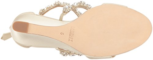 Badgley Mischka Women's Tabby Wedge Sandal Ivory sale cheap price cheap 2014 unisex clearance big sale cheap with mastercard Fo5uP