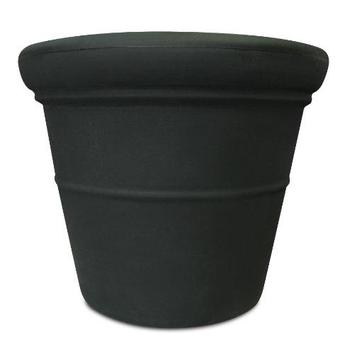 Akro-Mils TEA24000G18 24-Inch Terrazzo Round Pot, Black Onyx