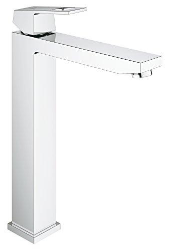 GROHE Eurocube Badarmatur für freistehende Waschschüsseln, glatter Körper, extra hoher Auslauf 23406000