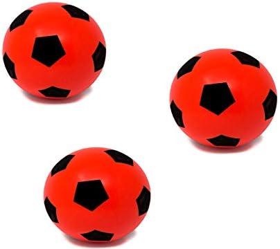 E-Deals Pack de 3 pelotas de espuma de 17,5 cm para interior y exterior, pelota de fútbol de espuma suave, gran diversión para adultos, niños y niñas: Amazon.es: Deportes y aire libre