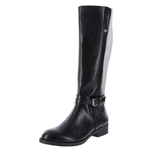 Lower East Side Black Women's Maisie Riding Boot 9.5 Wide Calf
