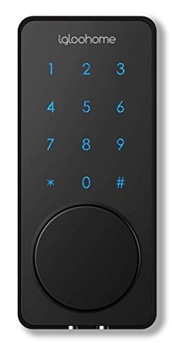igloohome Smart Lock Deadbolt 02, Grant & Control Access Remotely Offline, Compatible with Alexa and Google Home (Black)