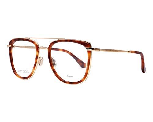 Jimmy Choo JC 219 086 Dark Havana Metal Square Eyeglasses 52mm