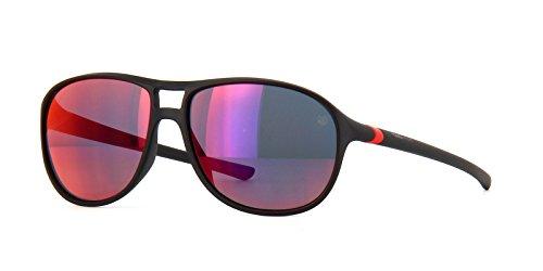 TAG HEUER 66 6043 113 601603 Oval Sunglasses, Black, 60 ()