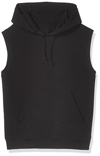 (Good Brief Men's Sleeveless French Terry Hoodie Medium Black)