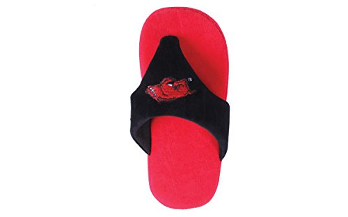 Mens Comfy Arkansas College Womens NCAA and LICENSED OFFICIALLY Razorbacks Flop Feet Happy v0qa5w