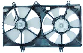 TYC 620010 Toyota Corolla Replacement Radiator/Condenser Cooling Fan Assembly ()