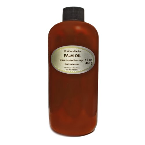 Raw Extra Virgin Red Palm Oil Organic Unrefined 16 Oz