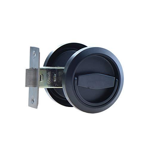 (304 Stainless Steel Furniture Locks Hidden Recessed Cup Door Handles Lock and Lockers Without Keys (Black))