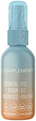 Complement - B12-D3-DHA/EPA Vegan Vitamin Spray - 60-Day Supply