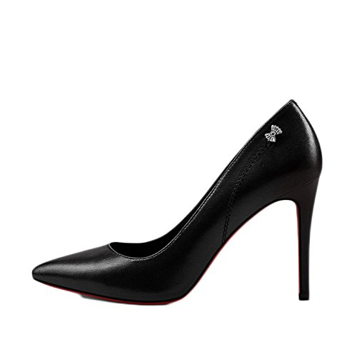 UK EU Scarpe Nightclub Sposa da Sposa 5cm snfgoij Strass Alti da Scarpe Donna Moda Sexy 37 4 Tacchi 5 da Impermeabili Lavoro Black 9 CwHq1
