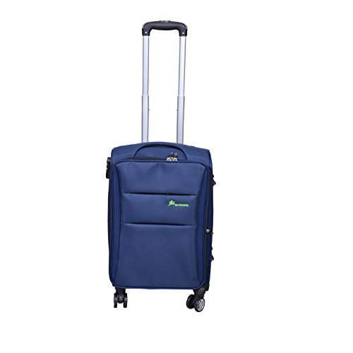 PRAGEE Exclusive Blue 20 INCH Fabric Cabin Luggage Trolley Bag  Soft Body