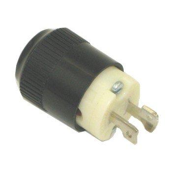 Hubbell 7465NCR Locking Plug, Midget, 15 amp, 125V, Ml-1p, Black and ()