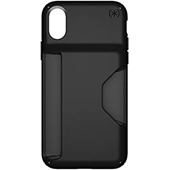 Speck Products Presidio Wallet Case for iPhone X, Black/Black