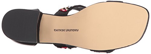 Chinese Laundry Womens Mandala Dress Sandal Black Leather wqCSr