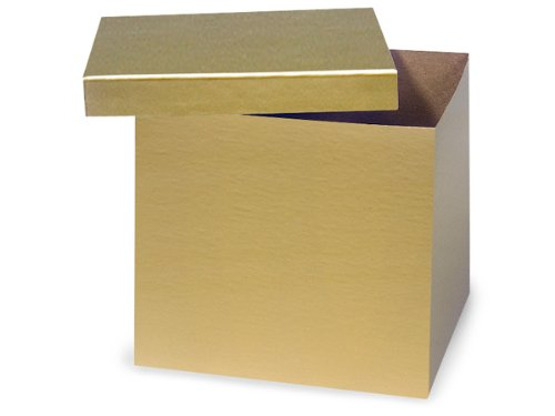 GOLD Hi-Wall 10x10x9''100% Recycled Giftware Box BASE (1 unit, 50 pack per unit.) by Nas