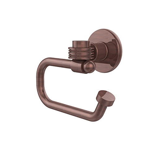 (Allied Brass 2024ED-CA Continental Collection Euro Style Toilet Tissue Holder with Dotted Accents, Antique Copper )