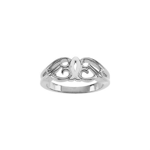 Sterling Silver Ichthus (Fish) Ring, Size 6 to 7 by The Men's Jewelry Store