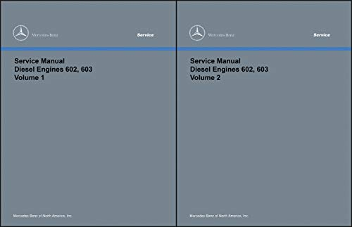 1986-1993 Mercedes 602 603 Diesel Engine Repair Shop Manual 190D 300D/TD/SDL 350SD