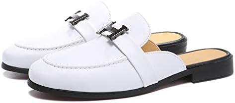 ローファー メンズ ゆったり サボ かかとなし 蒸れにくい カジュアル シューズ 革靴 男性 サンダル サッと履ける スリッポン 快適 紳士靴 履きやすい 靴 室内 ルーム スリッパ 黒 オフィス デスクワーク スムース