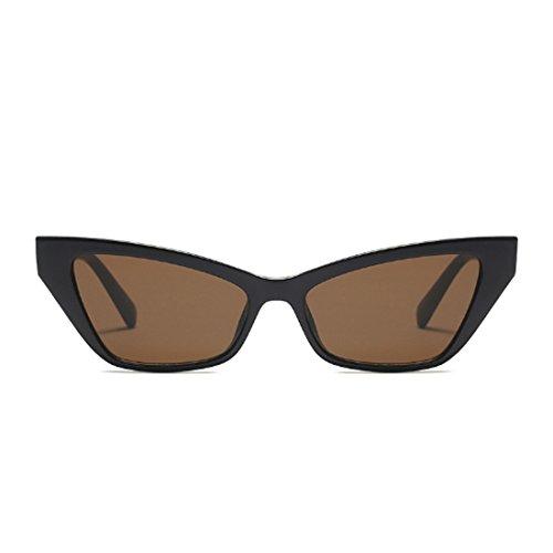 sol pequeño de Gafas Marrón Gafas elegantes de Oscuro de retro estilo vintage marco sol Gafas de de Inlefen sol x1AfXf