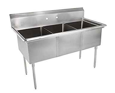 Superior John Boos E Series Stainless Steel Sink, Multi Bowl, 3 Compartment, 35u0026quot