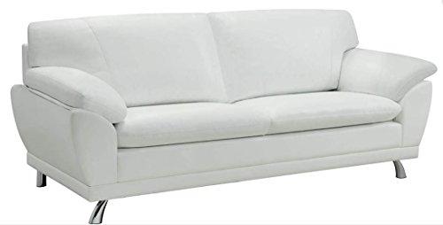 Coaster Home Furnishings Contemporary Sofa, Chrome/White