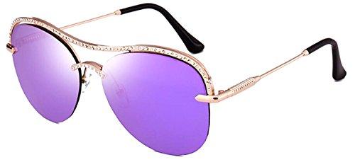 Metal Rimless Sunglasses - 9